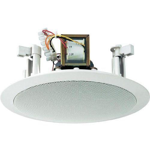 Głośnik sufitowy PA do zabudowy Monacor EDL-26, 95 dB, 80 - 14 000 Hz, 100 V, Kolor: biały, 1 szt.