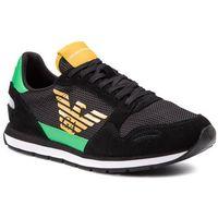 Sneakersy EMPORIO ARMANI - X4X215 XL693 D791 Black/Black/Green, kolor czarny