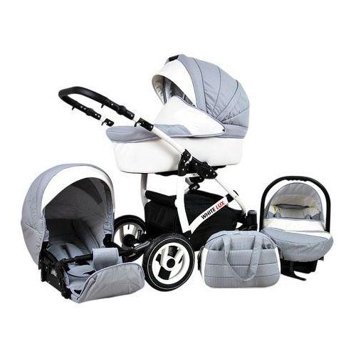 Sun Baby Wózek wielofunkcyjny White lux 3w1, silver