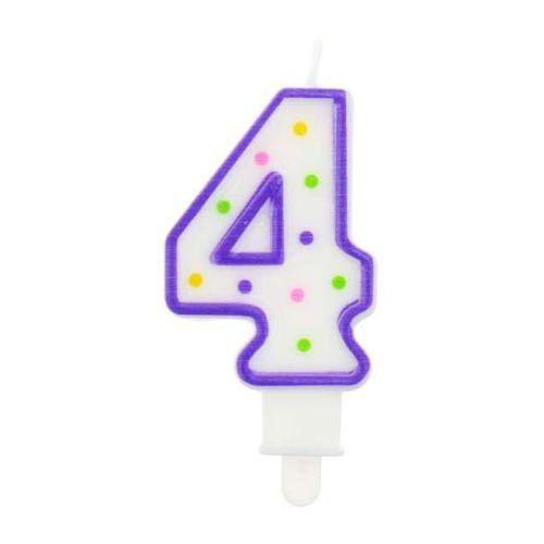 Świeczka cyferka 4 7,5 cm/PF-SCK4/ (5901238694939)