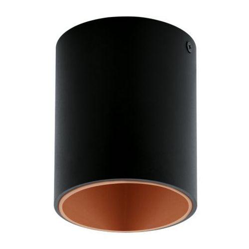 lampa sufitowa POLASSO czarno/miedziana - okrągła, EGLO 94501