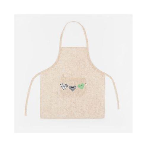 Fartuch kuchenny mimi kolor lniany/szary/zielony mimi00/akm/l15/070078/1 marki Markizeta