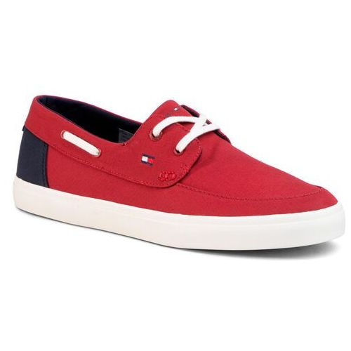 Tenisówki TOMMY HILFIGER - Seasonal Core Boat Shoe Sneaker FM0FM02760 Regatta Red XIT, w 7 rozmiarach