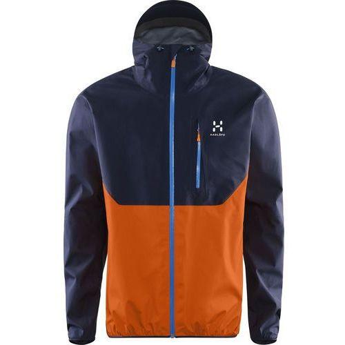 Haglöfs GRAM COMP Kurtka hardshell deep blue/tangerine, poliamid
