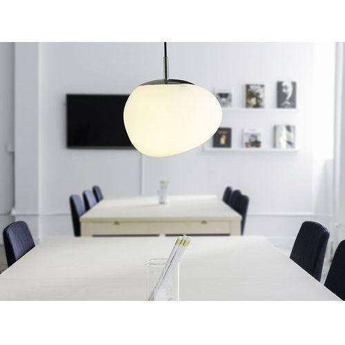 Beliani Lampa wisząca szklana biała liffel (4260602372707)