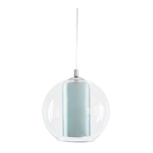 Nowoczesna LAMPA wisząca MERIDA L 10407112 Kaspa szklana OPRAWA abażurowa ZWIS kula ball przezroczysta turkusowa, kolor Przezroczysty