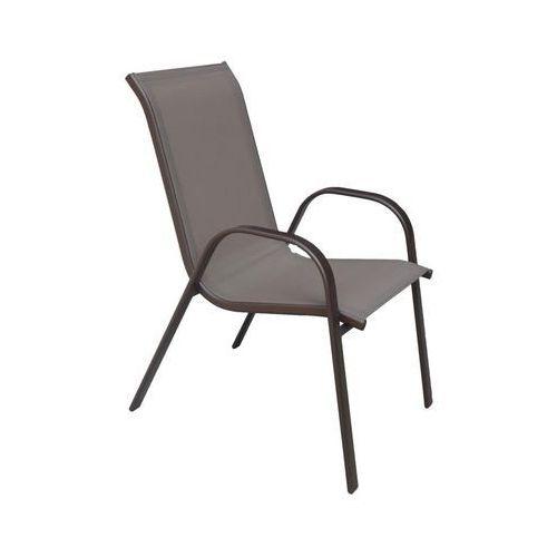 Krzesło ogrodowe CINO metalowe brązowe