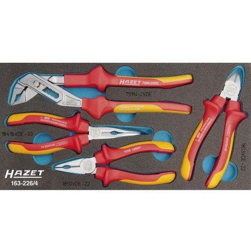 HAZET Zestaw szczypiec dla elektryków (atest VDE) 163-226/4 Hazet 163-226/4 (4000896177875)
