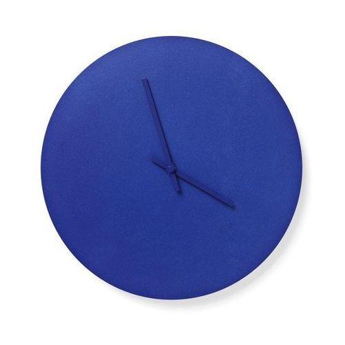 Menu - zegar ścienny stalowy - niebieski