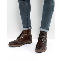 hurst leather brogue boots in brown - brown, Base london