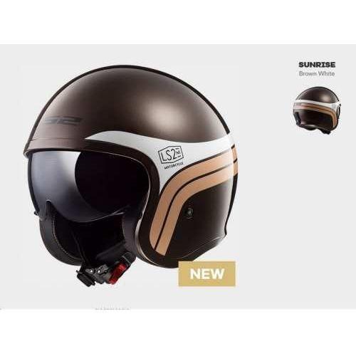 Kask motocyklowy of599 spitfire sunrise brown white marki Ls2
