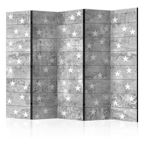 Parawan 5-częściowy - gwiazdki na betonie ii [room dividers] marki Artgeist