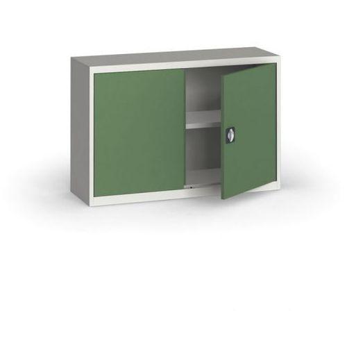 Szafa metalowa, 800 x 1200 x 400 mm, 1 półka, szary/zielony marki Alfa 3