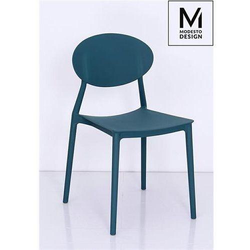 MODESTO krzesło FLEX morskie - polipropylen - Morski, 8117.DARKBLUE (12207555)