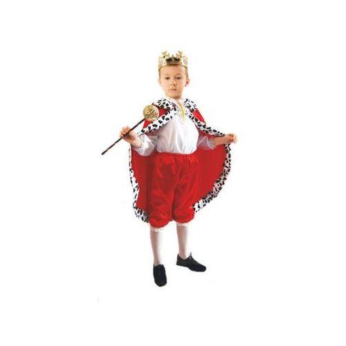 Kostium Król czerwony rozmiary: od 110 do 140 cm - S, M, L - S - 110/116 cm z kategorii kostiumy dla dzieci