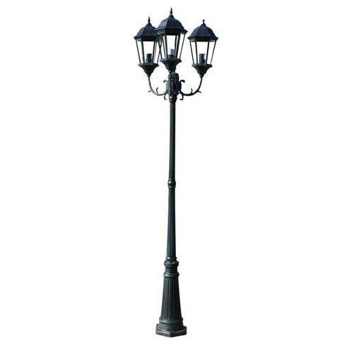 """vidaXL Lampa ogrodowa, stojąca """"Mielno"""" 230 cm ciemnozielona/czarna"""