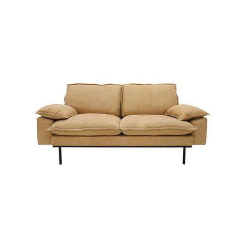 sofa retro 2-osobowa skórzana w kolorze naturalnym mzm4682 marki Hk living