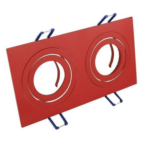 Ledart Oprawa sufitowa aluminium podwójna ruchoma czerwona