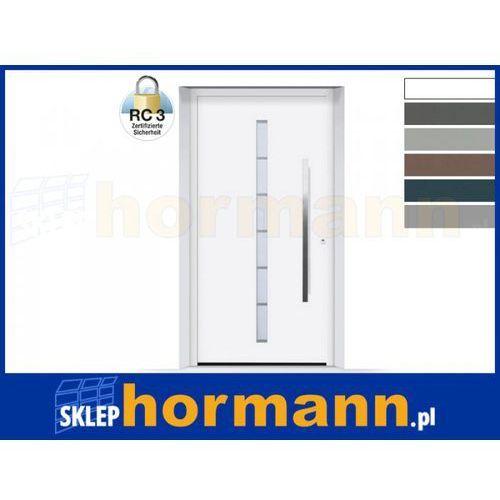 Drzwi aluminiowe ThermoSafe 2018, Wzór 189, kolor do wyboru, przeciwwłamaniowe RC 3
