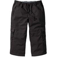 Spodnie 3/4 loose fit czarny, Bonprix