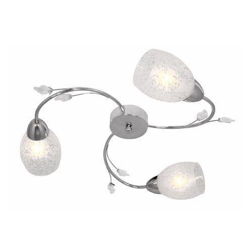 Reality Plafon lampa sufitowa plato 3x40w e14 chrom / biały 624103-06