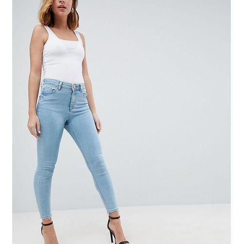 ASOS DESIGN Petite Ridley high waist skinny jeans in ariel bright light stone wash - Blue, jeans