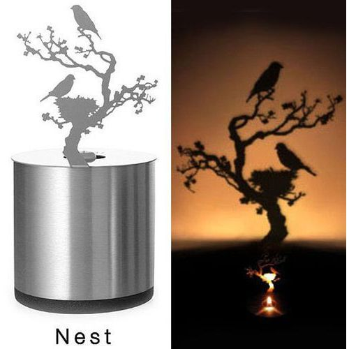 Creative nest shadow projection led lamp romantic atmosphere candle decor light marki Rosewholesale