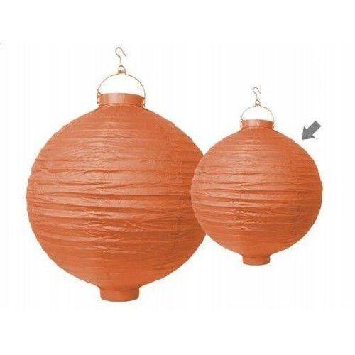 Party deco Świecący ogrodowy lampion papierowy 30 cm, pomarańczowy, 1 szt. (5901157456779)