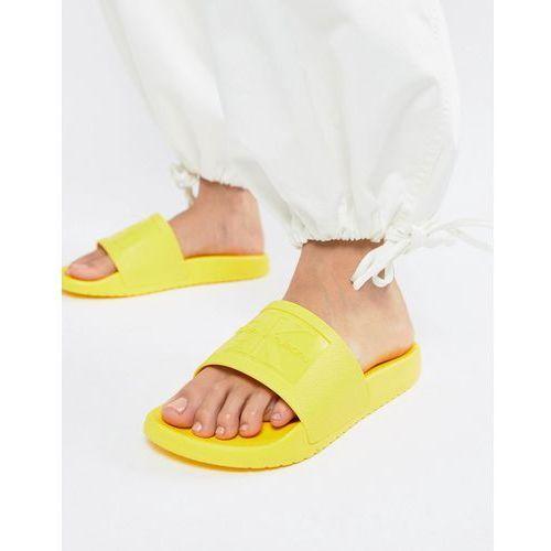 Calvin Klein Christie Yellow Jelly Sliders - Yellow