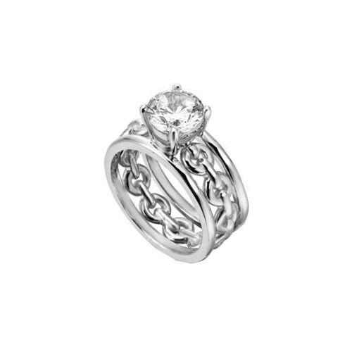 Esprit Srebra pierścień krystalicznym Ann ESRG002611 (obwód 51 mm) srebro 925/1000