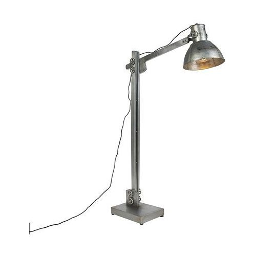 Leuchten direct Przemysłowa lampa podłogowa szara - samia