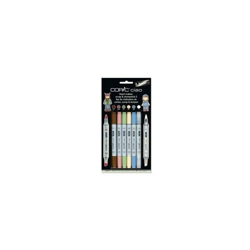 COPIC Ciao Markery Zestaw 5+1 Scrap & Stempelset 2