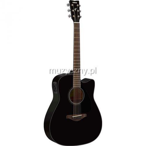 fgx 800 c bl gitara elektroakustyczna, solid top, cutaway, czarna marki Yamaha