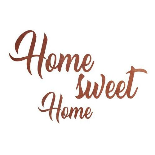 Congee.pl Dekoracja drewniana napis na ścianę home sweet home - 4 mm