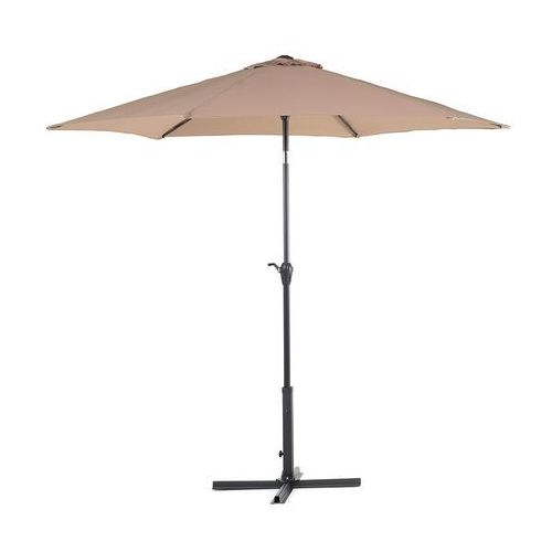 Beliani Parasol ogrodowy Ø270 cm mokka varese