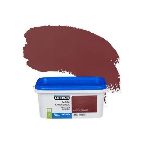 Farba wewnętrzna do ścian i sufitów emulsja 2.5 l szczypta tabasco marki Luxens
