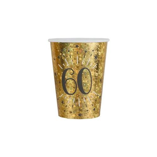 Kubeczki na sześćdziesiąte urodziny 60 sparkling - 250 ml - 10 szt. marki Santex