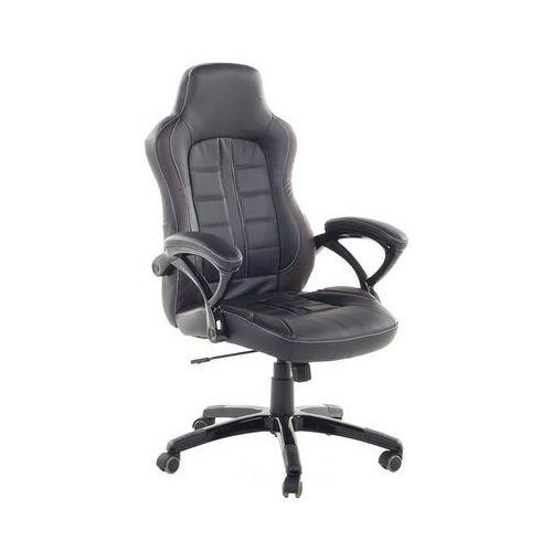 Krzesło biurowe czarno-ciemnobrązowe regulowana wysokość PRINCE (7081458331321)