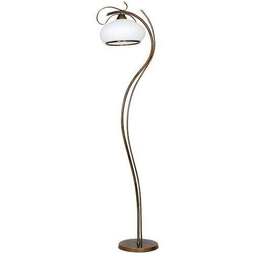 Lampa stojąca podłogowa patyna viii 1x60w e27 patyna / biały 493a marki Aldex