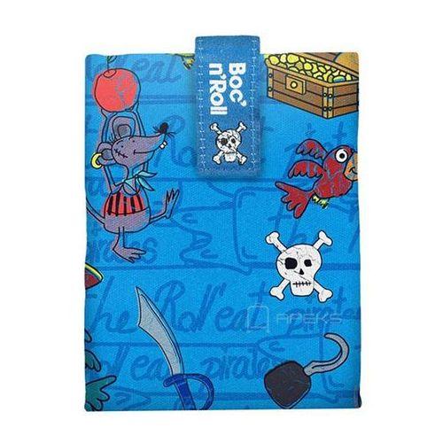 roll'n'eat kids chusta do zawijania jedzenia / lunchbox - pirates niebieska marki Boc'n'roll