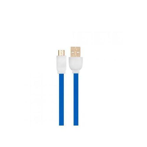 Kabel usb - micro usb 1 m (mbfl-10 blue) marki Arkas