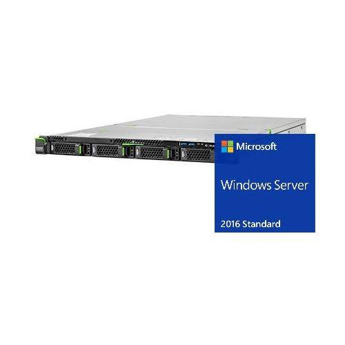 Serwer  rx2510m2 / 8-core xeon e5-2620v4 / 16gb ddr4 / 4x lff 3.5 / 2x 600gb sas 12g / raid5 z 1gb cache + fbu / 2x psu hot plug / 5 lat gwarancji / windows server 2016 standard / zestaw!!! marki Fujitsu