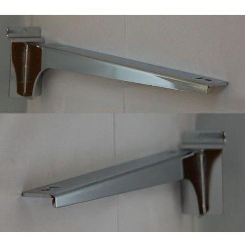Para (prawy + lewy) wsporników dł. 35cm pod półkę, na panel spacewall - chromowane