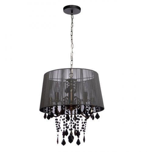lampa wisząca MONA 3 czarny chrom, LIGHT PRESTIGE LP-5005/3P czarna