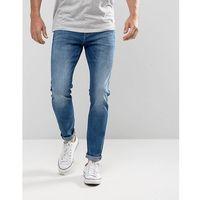 malone super skinny jeans acid wash blue - blue, Lee