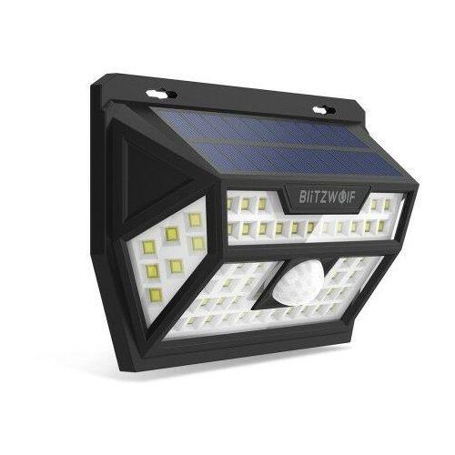 Zewnętrzna lampa solarna LED Blitzwolf BW-OLT1 z czujnikiem ruchu i zmierzchu, 2200mAh