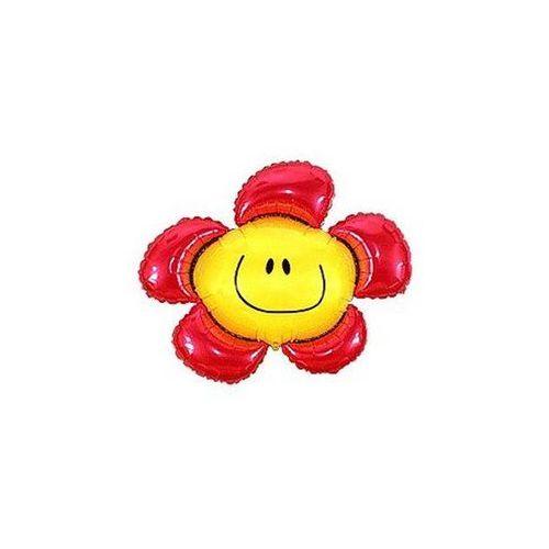 Balon foliowy Kwiatek czerwony 94 cm