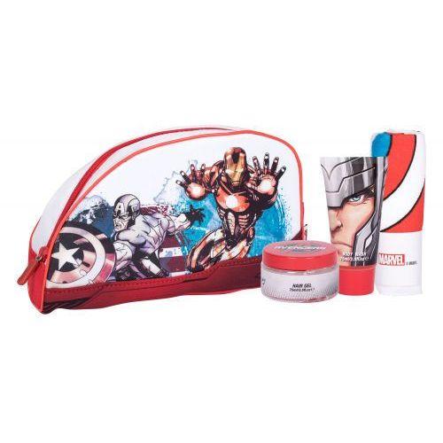 Marvel avengers zestaw żel pod prysznic 75 ml + żel do włosów 75 m + myjka + kosmetyczka