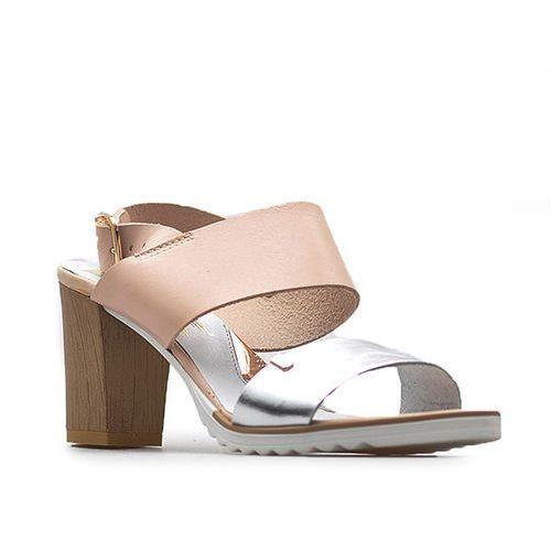 Sandały 40085 różowe/srebrne marki Lemar