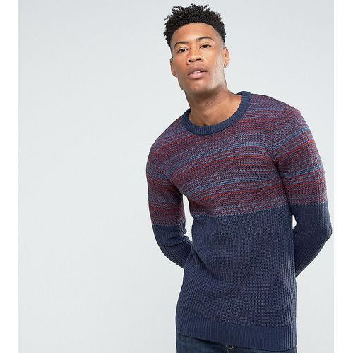 tall jacquard block knitted jumper - red marki Another influence